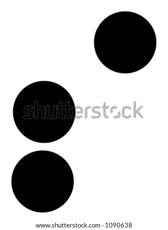 alphabet letter s in braille - stock photo