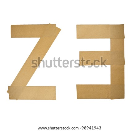 Alphabet Letters Number Sticker on white background (2 3)