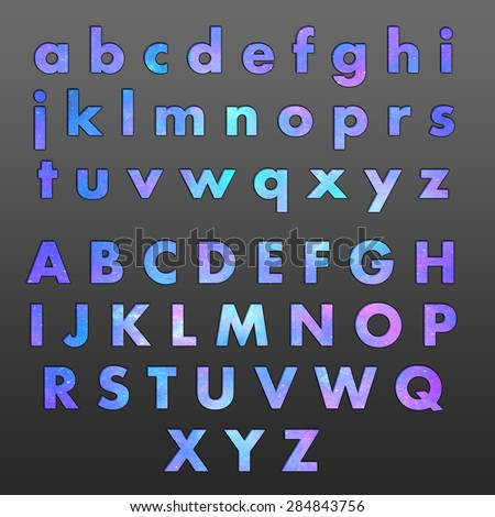 alphabet letters galaxy tone stock illustration 284843756 shutterstock