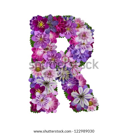 S Alphabet In Flowers Alphabet Flower R Stock Photos, Images, & Pictures | Shutterstock