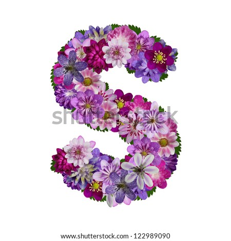S Alphabet In Flowers Flower letters Stock Photos, Images, & Pictures | Shutterstock
