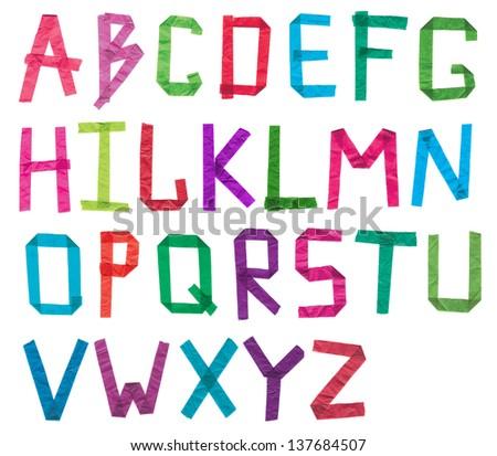 Paper Alphabet Stock Photos, Royalty-Free Images & Vectors ...