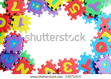 Alphabet Puzzle Pieces on White Background