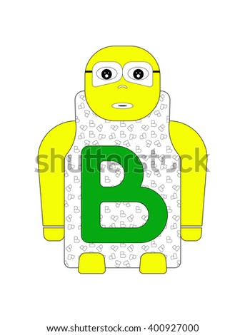 ALPHABETICAL STANDING CHILD''S NAME B (LETTER B) - FONT