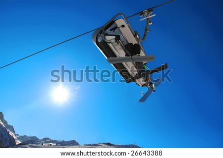 Alpine Chairlift - stock photo