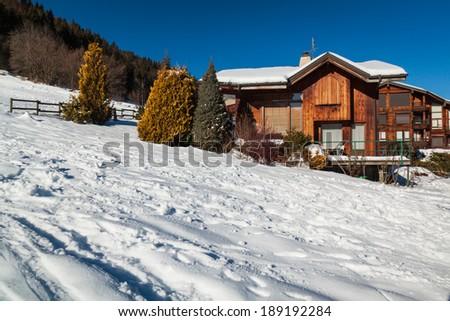 Alpine chalet - stock photo