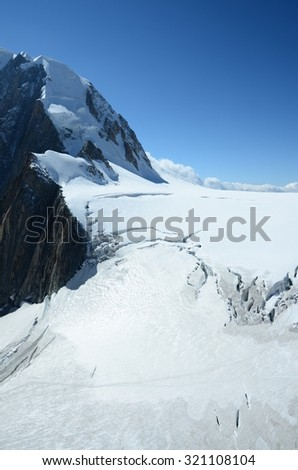 Alpine Glacier - stock photo