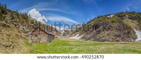 Alpine hut in South Tyrol, Italy