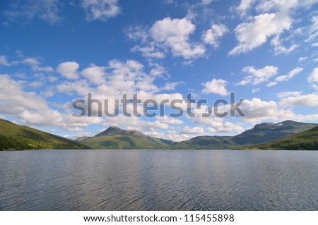 Alpine lake in the northern Norwegian mountains - North Norway