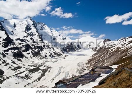 Alpine landscape - Glacier of Hohe Tauern National Park in Austria, Central Europe - stock photo