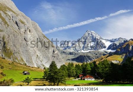 Alpine landscape: Grosglockner peak September 2015. - stock photo