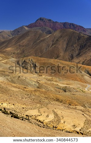 Alpine landscape in Atlas Mountains, Morocco, Africa