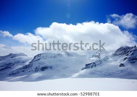 Alps in Switzerland - stock photo