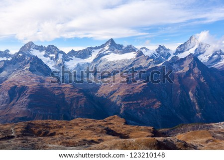 Alps in Zermatt, Switzerland - stock photo