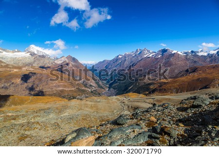 Alps mountain landscape in a beautiful day in Switzerland