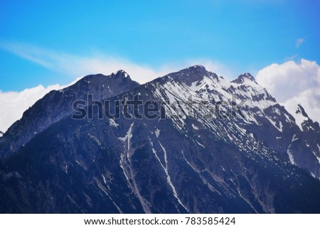 Alps mountain with snow on top