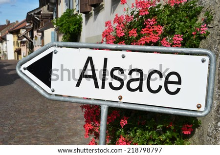 Alsace road sign