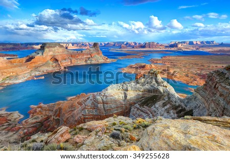 Alstrom point, Lake Powell, Page, Arizona, united states - stock photo