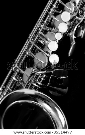 Alt saxophone - stock photo