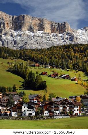 Alta Badia in the Dolomites, Italy, Europe - stock photo