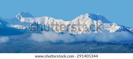 altai rocks panorama - stock photo