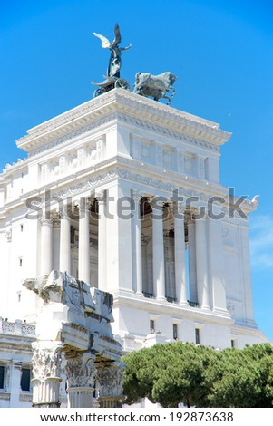 Altar of the Fatherland, Piazza Venezia, Rome, Italy - stock photo