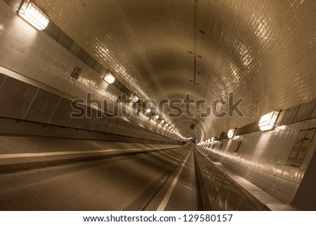 alter Elbtunnel in Hamburg, Germany