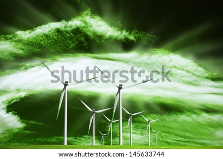 Alternative ecological source of energy - stock photo