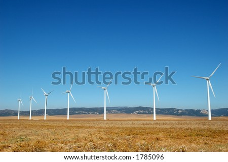 alternative energy by wind turbines