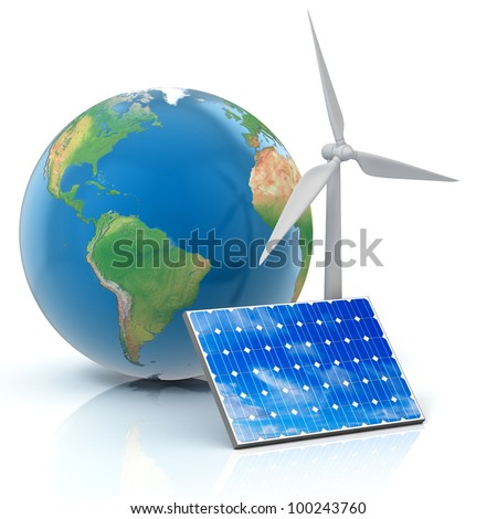 alternative energy 3d concept