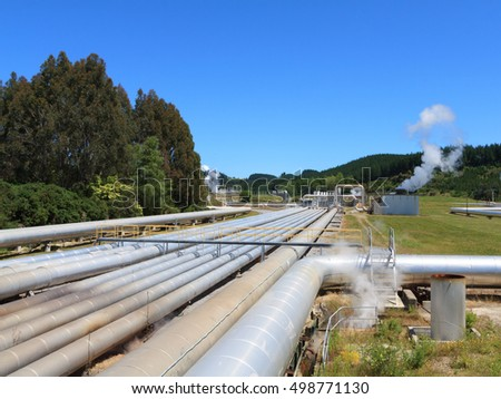 Alternative energy - geothermal power station