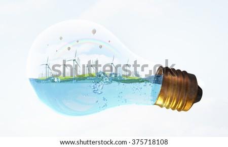 Alternative energy idea - stock photo