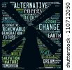 Alternative energy poster: text collage - stock photo