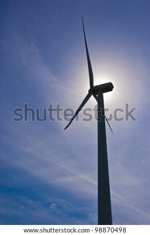 Alternative energy wind turbine electricity generator - stock photo