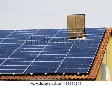 Alternative energy with photovoltaic installation