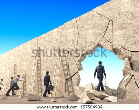 Alternative exit - stock photo