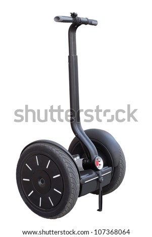 alternative transport vehicle isolated on a white - stock photo