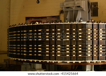 Alternator generates power for electrical system - stock photo