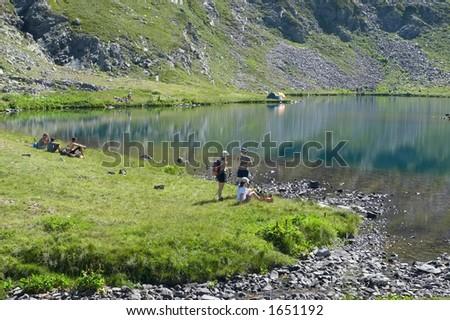Altitude Camping - stock photo