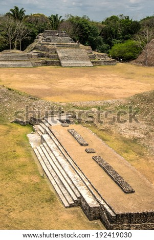 Altun Ha Mayan Ruin, Belize - stock photo