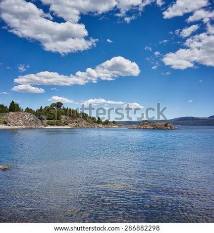 Alumine Lake, Neuquen, Argentina - stock photo