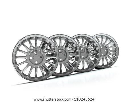 Aluminium Alloy rims, Car rims. Custom wheels for  car. - stock photo