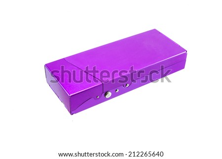 aluminium box on white isolate - stock photo