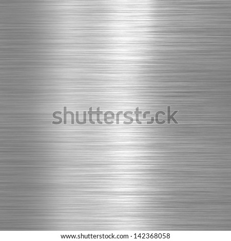 Aluminium brushed plate background or texture - stock photo