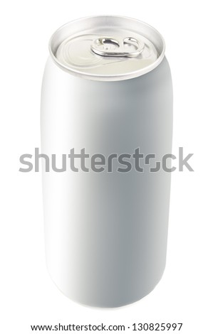 aluminium can on white background