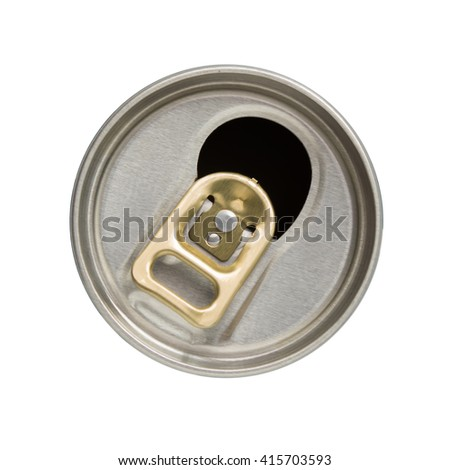 aluminium cans abstract background / top view