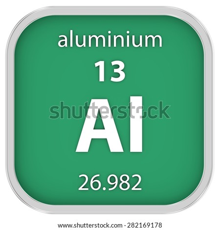 Aluminium material on the periodic table. Part of a series.