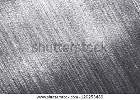 aluminium metal background close up - stock photo