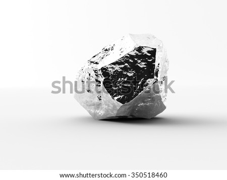 aluminium nuggets on a white background