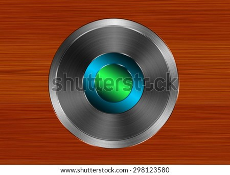 Aluminum background, abstract silver pattern with wood  - stock photo